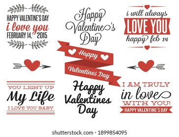 Valentine's Day Labels vector image