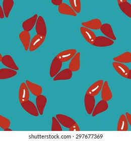 Valentine's Day lip flat icon,eps10 seamless pattern background