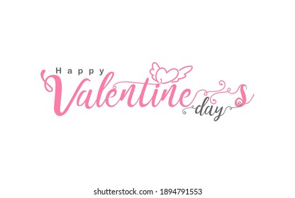 Valentines day logo icon background with heart pattern and typography of happy valentines day text . Vector illustration. Wallpaper, flyers, invitation, posters, brochure, banners.