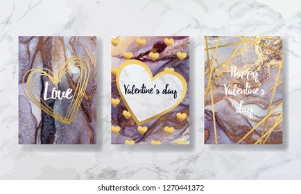 Valentine's Day, love. background texture luxury liquid marble and gold. for business cards, flyers, flyer, banner, website, paper printing. trend vector
