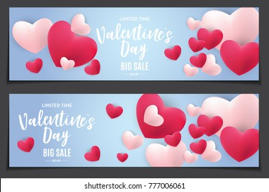 Valentine's Day Love and Feelings Sale Background Design. Vector illustration EPS10