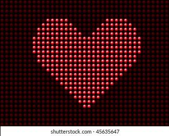 Valentine's day love heart light panel. Editable Vector Image