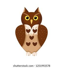 Valentine's Day. Love owl. Background. Wallpaper.