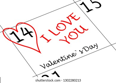 Valentine`s Day I love You with Heart