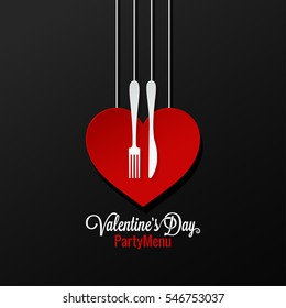 Valentines Day Menu logo design Background.