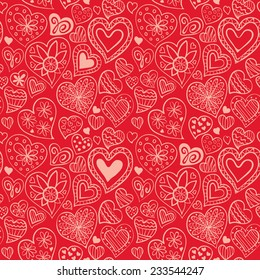 Valentine's day pattern with heart