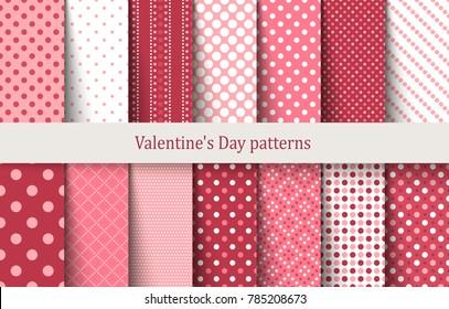 Valentine's Day patterns. Vector illustration