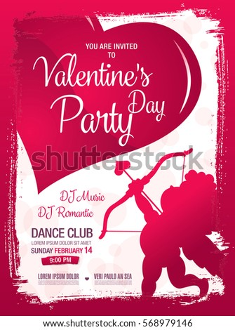 Valentines Day Poster Template Design Stock Vector Royalty Free