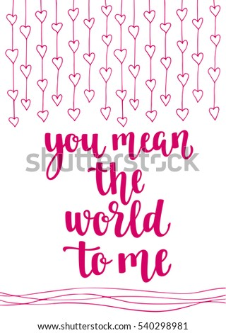 Valentines Day Quote Romantic Saying Posters Stock Vector Royalty Amazing Romantic Saying
