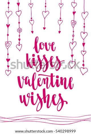 Valentines Day Quote Romantic Saying Posters Stock Vector Royalty Adorable Romantic Saying