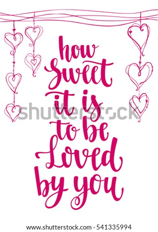 Valentines Day Quote Romantic Saying Posters Stock Vector Royalty Delectable Romantic Saying