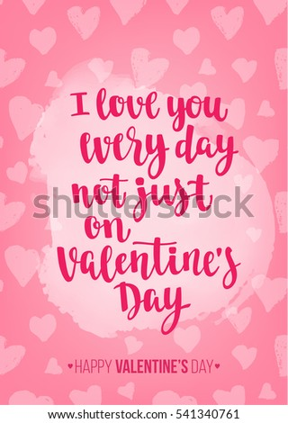 Valentines Day Quote Romantic Saying Posters Stock Vector Royalty Beauteous Romantic Saying