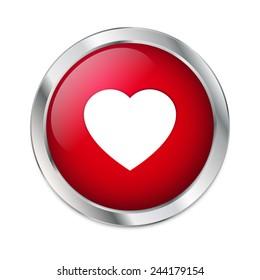 Valentine's Day - Red Heart button