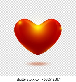 Heart On Transparent Background Valentine Day Stock Vector Royalty
