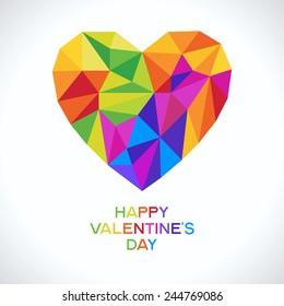 Valentine's day, romance, love concept. Vector illustration of a modern geometric design