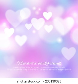 Valentine's day romantic background. Vector ilustration
