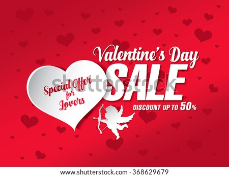 Valentines Day Sale Banner Stock Vector Royalty Free 368629679