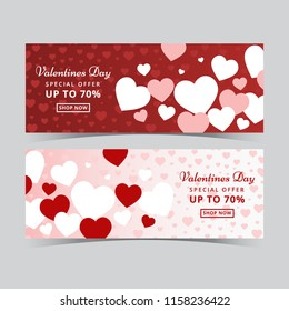 Valentines Day Sale Banner Template