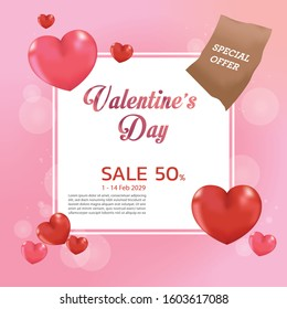 Valentine's Day sale poster design