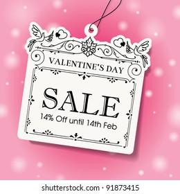 Valentine's Day Sale Tag