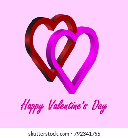 Valentine's day sign. Vector of heart
