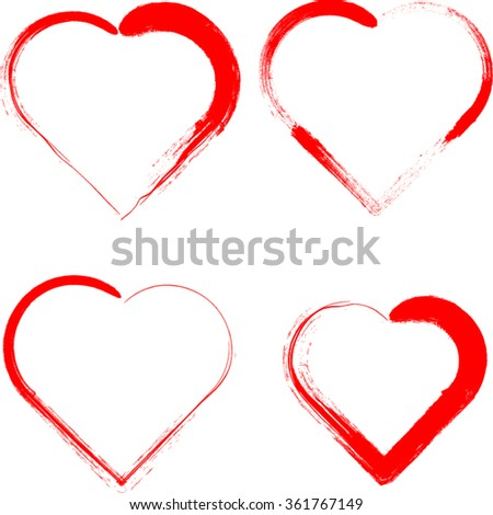 Valentines Day Signs Heart Shape Rubber Stock Vector Royalty Free