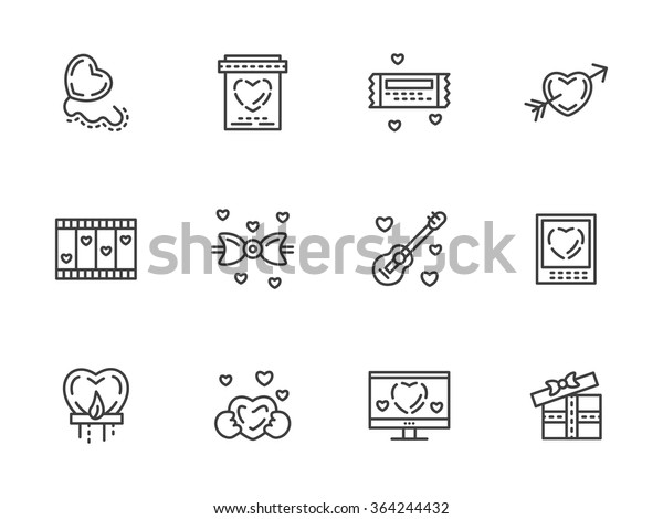 Valentines Day Theme Romantic Gift Messages Royalty Free