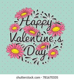 Valentine's day vector background. Valentine's design card. Flower paper cutting styled.