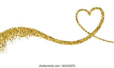 Valentines Day Vector Background With Sparkles and Glitters. Holiday Design.