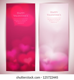 Valentine's day vector backgrounds with abstract hearts.
