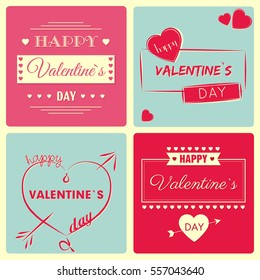 Valentine`s Day - vector card