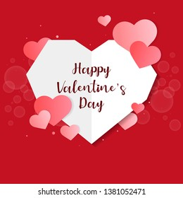 Valentines day vector design concept