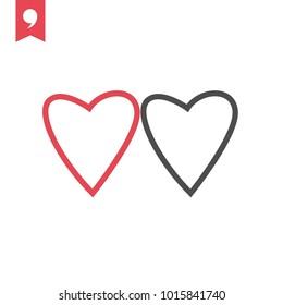 Valentine's day vector icon, hearts symbol