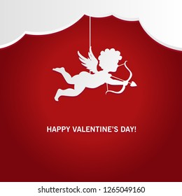 Valentines day,Cupid holding arrow