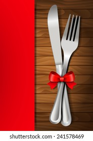 Valentines dinner on a wooden background