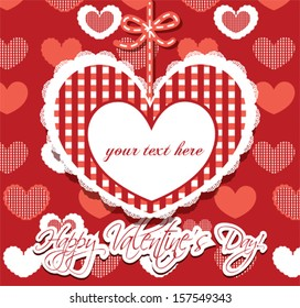 Valentine's greeting card with lovely hearts