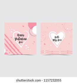 Valentine card images stock photos vectors shutterstock valentines greeting card template maxwellsz