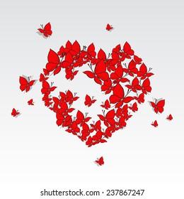 Valentine's Heart of butterflies.