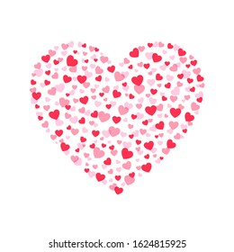 Valentines heart. Decorative heart background with lot of valentines hearts. Vector illustration