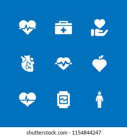 valentines icon. 9 valentines set with heart and health vector icons for web and mobile app