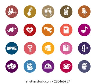 Valentines and Love Color Icons