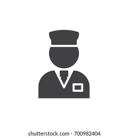 Valet icon vector, filled flat sign, solid pictogram isolated on white. Concierge symbol, logo illustration. Pixel perfect vector graphics