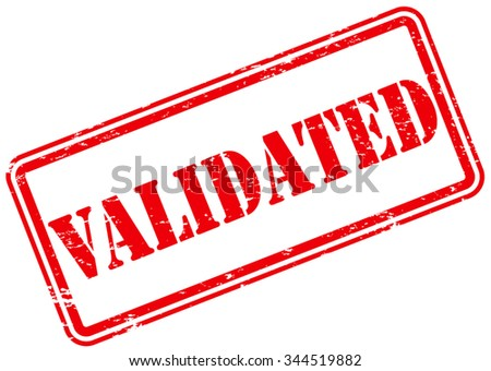 Validated Rubber Stamp Stock Vector Royalty Free 344519882