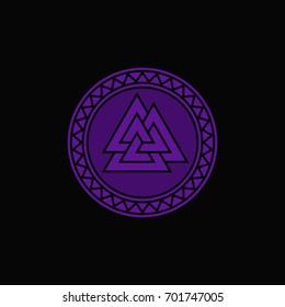 Valknut Vector Illustration / Ancient Symbol