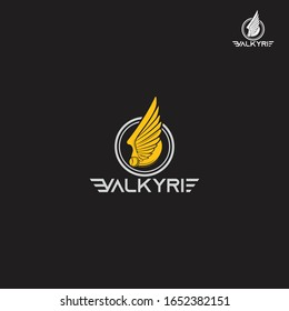 Valkyrie icon. Golden vector Valkyrie icon on black background from Fairy Tale collection, vector illustration can be use for web and mobile, eps10