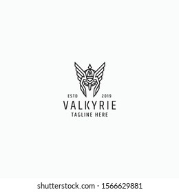 Valkyrie logo Design Template Vector Illustration