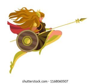 valkyrie nordic woman warrior