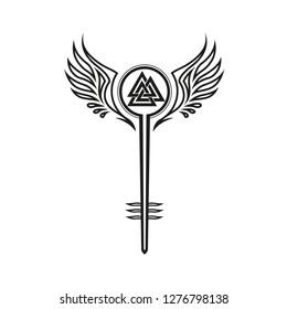 Valkyrie Vikings Shieldmaiden Odin Symbol Valknut