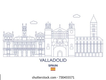 Valladolid City Skyline, Spain