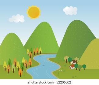 Valley background
